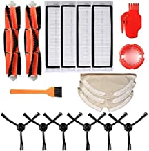 DIY Robotic Vacuum Cleaner Filters Side Brushes Main Brush Kit 18pcs Compatible with Roborock S55 S50 S51 Robot Vacuum Swe...