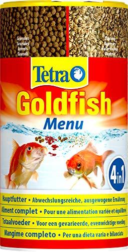 Tetra Goldfish Menu, Ausgewogener Premium-Futter-Mix für alle Goldfische und Kaltwasserfische, 250 ml Dose