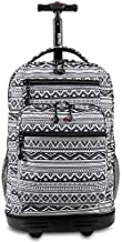 J World New York Sundance Rolling Backpack. Laptop Bag with Wheels, Tribal, One Size