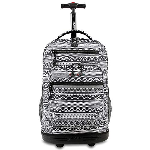 J World New York Sundance Rolling Backpack and Laptop Bag, Tribal, One Size