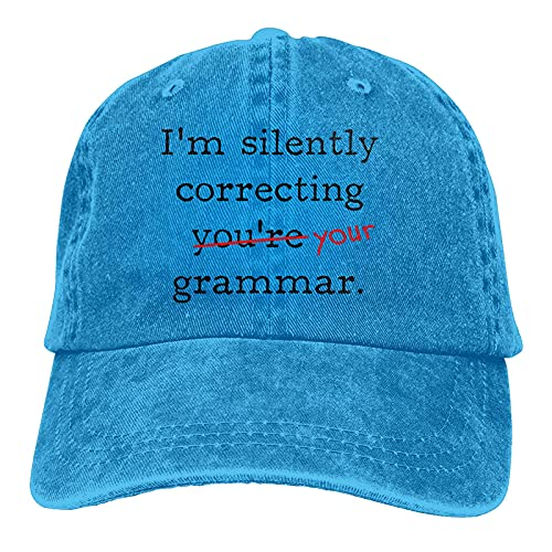 I'm Silently Correcting You're Your Grammar Casquette Gorra ajustable Unisex Azul