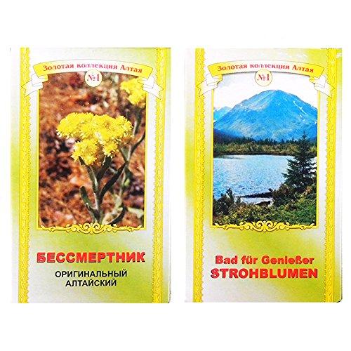 Strohblume Helichrysum 25g Bad Kräuter Altai Badekräuter бессмертник