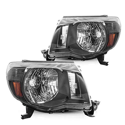 05 toyota tacoma headlights black - 1