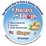 Queasy Drops w/Natural Ginger, Morning Sickness and Nausea Relief, 48 Count
