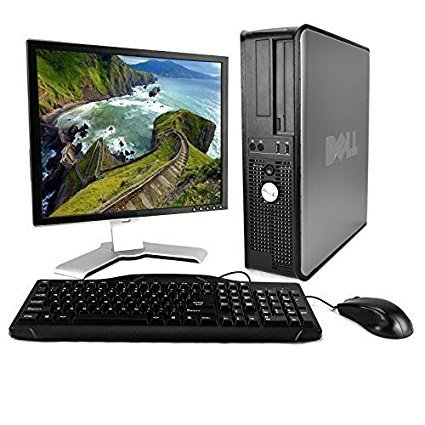 "Dell OptiPlex Desktop Complete Computer Package with Windows 10 Home - Keyboard, Mouse, 17"" LCD Monitor(brands may vary) (Renewed)"