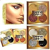 Miss Cop 2 paletas de maquillaje Show Off # 1 + Show Off # 2 Smoky Eyes + lentejuelas (juego de 2 paletas)