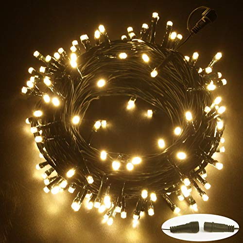Extendable 56ft 120LED Christmas String Lights, String Lights with Waterproof IP44 for Indoor & Outdoor, Decorative Lights for Room, Garden, Patio, Christmas, Halloween