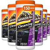 Armor All Car Interior Cleaner Wipes for Dirt & Dust - Cleaning for Cars & Truck & Motorcycle, 25 Count (Pack of 6), 10863