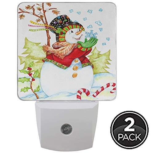 Bouchon de veilleuse de flocon de neige de bonhomme de neige de Noël en ensemble de 1 garçons filles bébés, veilleuses d'hiver Cardinal Bird Candy