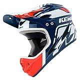 Kenny Downhill 2020 - Casco para Bicicleta de montaña, Color Blanco y Rojo, XXS (51-52 cm)