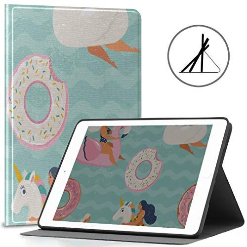 Funda Protectora para iPad 9.7 Unicornio Brillante o flotadores de Flamenco en Forma de Piscina 2018/2017 iPad 5.ta / 6.a generación Cubierta de iPad 9.7 para niños También Cabe iPad Air 2 / iPad Air
