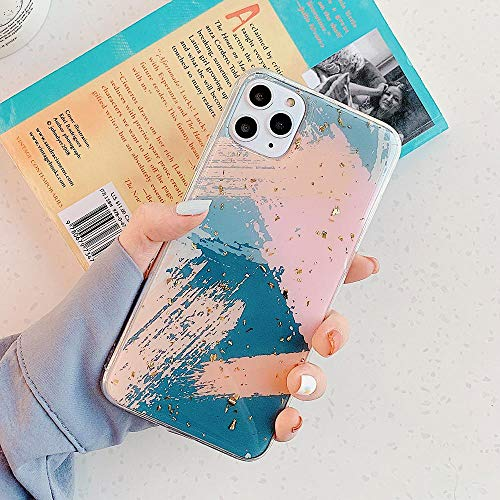Funda para teléfono WZHR Funda de teléfono de Graffiti geométrico en Polvo Dorado para iPhone 11 Pro MAX XR XS MAX 6 6S 7 8 Plus X Funda de epoxi Suave para Regalo E