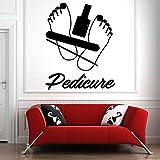 SUPWALS Pegatinas de pared Tatuajes De Pared Nail Salon Art Quotes Nails Polish Wall Stickers Pattern Manicure Pedicure Beauty Salon Home Decor Removable 57X71Cm