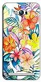 Mixroom M764 Coque en TPU silicone souple pour Asus Zenfone Max Zc550Kl Motif fleurs tropicales