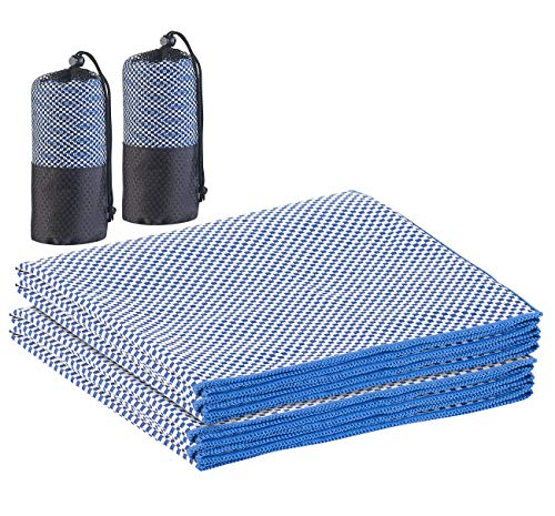 PEARL Handtuch Outdoor: 2er-Set schnelltrocknende, leichte Bambus-Handtücher, 130 x 80 cm (Bambus Duschtuch)