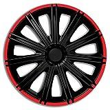 Jeu d'enjoliveurs Nero R 14-inch noir/rouge