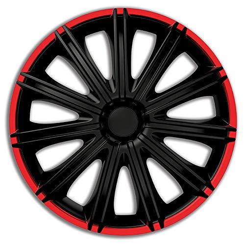 AutoStyle PP 5116BR Satz Radzierblenden Nero R 16-Zoll Schwarz/Rot