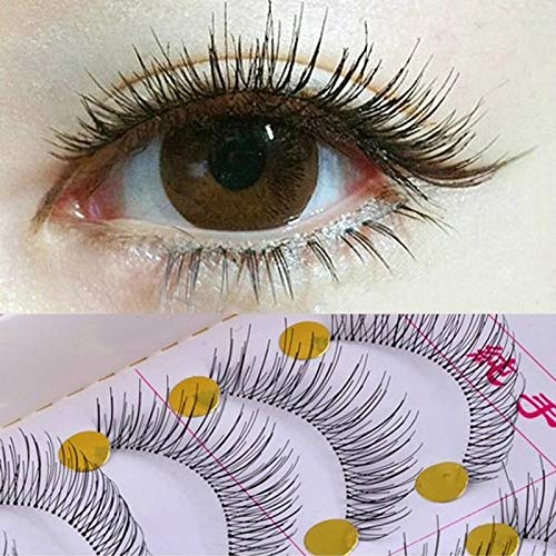 40Pair False Eyelashes Natural Reusable Sparse Cross Long Eyelashes Artificial Fake Eye Lashes Makeup Fake Eye Lashes Extensions 12mm