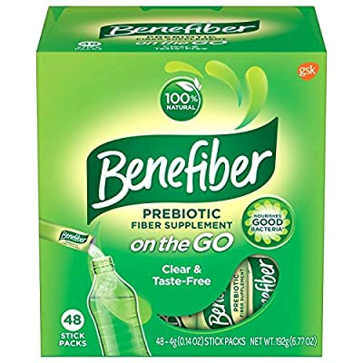 Benefiber Prebiotic Fiber Supplement, 48 Sticks, 192g (6.77oz)