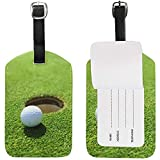 Pelota de Golf Equipaje Etiqueta Cuero para Maleta de Equipaje 2 Piezas