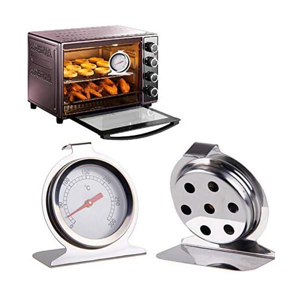 luminiu 0-300 Acero Inoxidable Termómetros De Acero Inoxidable para El Control del Horno,Horno Leña Bimetálico Y Horno…