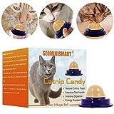 SEGMINISMART Bocadillos saludables para Gatos,Gato Snacks azúcar,Catnip Sugar Candy,Juguetes para Gatito Gatos Alimentos para Mascotas Ayuda Digestión