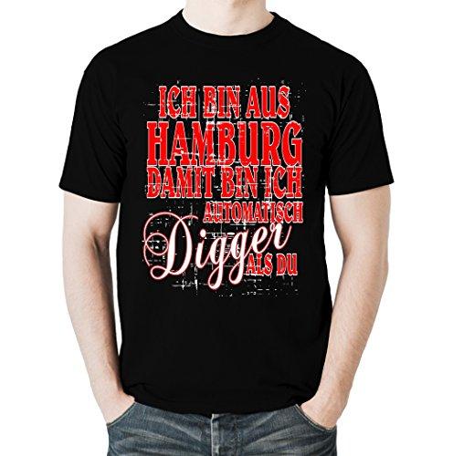 Ich Bin aus Hamburg und damit automatisch Digger als du, Heavy-T-Shirt (XL)