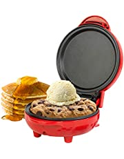 Giles & Posner® EK4215GVDEEU7 Compact Mini Snack Maker Grill - EU Plug   550 W   11.5 cm Plate   Red   Make Pancakes, Burgers, Cookie Dough and More