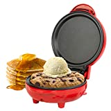Aparato para preparar aperitivos compacto EK4215GVDEEU7 de Giles & Posner® con enchufe europeo | 550W | Placa de 11,5cm | Rojo | Haga tortitas, hamburguesas, masa de galletas y mucho más