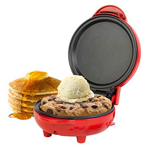 Giles & Posner EK4215GVDEEU7 - Macchina con piastra per mini snack - Spina europea | 550 W | Piastra da 11,5 cm | Rosso | Per preparare pancake, hamburger, biscotti e molto altro ancora