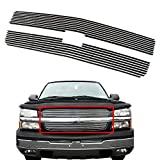 COSTBILE Aluminum Stainless Steel Horizontal Billet Grille Grill Insert Fit for 03-05 Chevy Silverado 1500/03-06 Chevy Avalanche 1500/2500