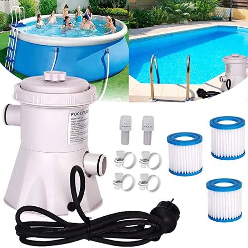 Pool Filterpumpe - Flowclear Poolpumpe 300 Gallon Above Ground Eu-stecker Multifunktionspumpe