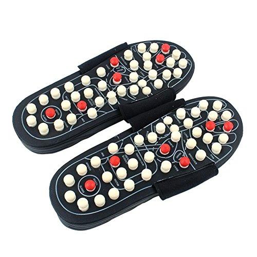 starter Acupresión Masajeador de pies Masaje de Bola de acupuntura Zapatillas Zapatos Reflexología Yoga Fitness Sandalias para Hombres Mujeres