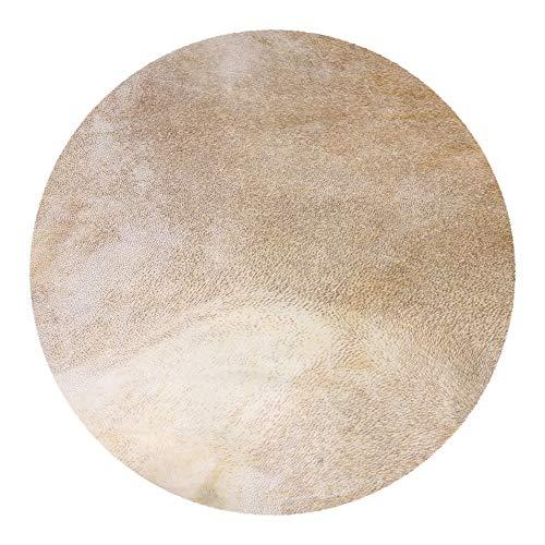 BQLZR Trommelfell aus Ziegenfell, 40cm Durchmesser, Hellgelb, für afrikanische Tamburine/Trommeln mit 30,5cm (12Zoll) Durchmesser