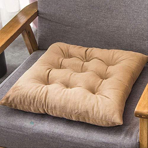 NoNoNo Velvet Solid Square Cushion Decoratieve zitkussen, vloermat, Office Sofa Car achterbank bekleding kruk kussen 45x45cm kameel
