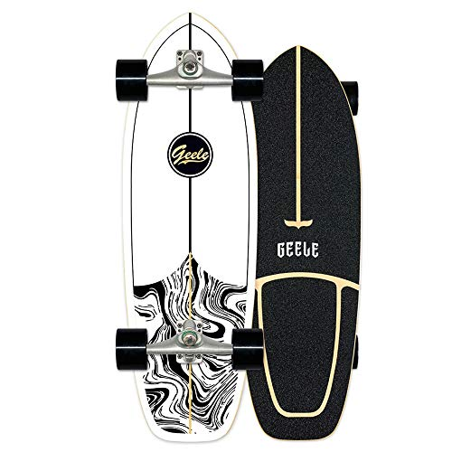 Surfskate Carving Skateboard Monopatín Pumpping surf simulado CX4, Arce tablero 78×24cm, Rodamientos ABEC-11, Superficie antideslizante, Ruedas 70×51mm, para Adolescentes Principiantes Adultos,A