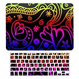 Carcasa rígida de plástico para MacBook Air 13 A1466, A1369, carcasa rígida y cubierta de teclado compatible con MacBook Air 13, colores neón