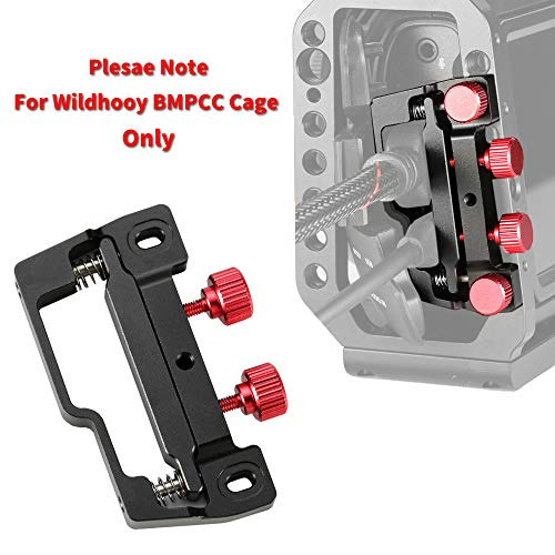 Wildhooy Clip de Abrazadera de Cable HDMI y USB-C Compatible con Jaula para BMPCC 4K y 6K