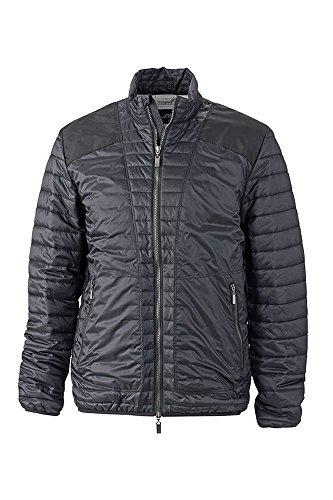 2Store24 Men's Lightweight Jacket in Black/Silver Size: M