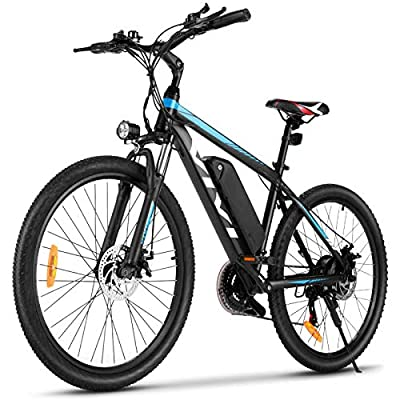 "VIVI Electric Bike, 26"" Electric Mountain Bike/Electric Bicycle, 350W ebike, Electric Bikes for Adults with Removable 10.4Ah Lithium-ion Battery, Professional 21 Speed Gears"