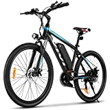 VIVI Electric Bike, 26' Electric Mountain Bike/Electric Bicycle, 350W Ebike, Electric Bikes for Adults with Removable 10.4Ah Lithium-ion Battery, Professional 21 Speed Gears