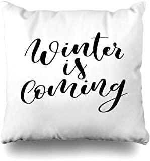 Abaysto Drawn Black Christmas Brush Holidays Abstract Greeting Celebration Christ Coming Cursive Design Script Pillow Cases Cushion Case Size:26x26 Inches