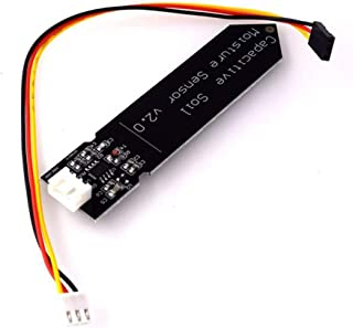 Hw-390 Capacitive Soil Moisture Sensor Not Corrosive Wide Voltage Operation Black