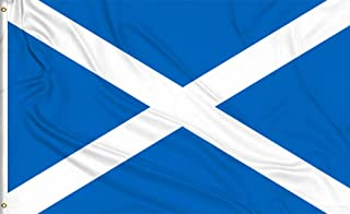Aimto 3x5 ft Scotland Flag - Bright Colors And Anti-Fading Materials - Scottish National Flags Polyester Canvas And Brass Buttonhole - Quality Assurance