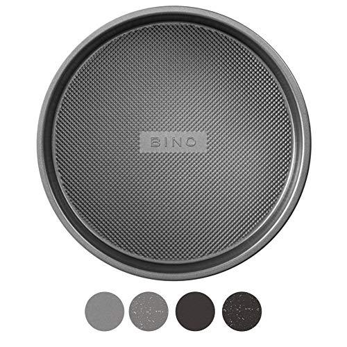 BINO Bakeware Nonstick Round Pan Baking Tray, 9 Inch - Gunmetal | Premium Quality Textured Baking Sheet with Even-Flow Technology | Dishwasher Safe | Non-Toxic