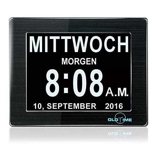 "Oldtime®LCD-Digitaluhr, Kalender mit Datum, 8 Zoll (20,3 cm) 8""black"