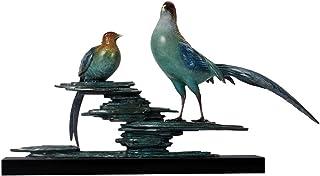 WZHZJ Accessories Pure Copper Bird Desk Decor Accessories Animal Home Decoration