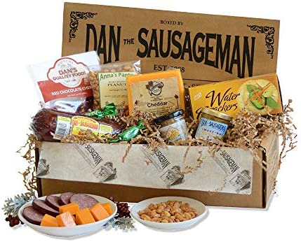Dan the Sausageman s Denali Gourmet Gift Basket Featuring Summer Sausage Wisconsin Cheese and product image