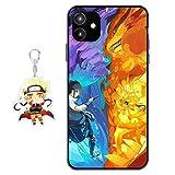 Funda iPhone 11 Naruto Anime Diseño [con Naruto Figura Llavero] Silicona TPU Cover Caso Dibujos Anim...