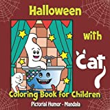 Halloween with Cat - Coloring Book for Children - Pictorial Humor - Mandala:...